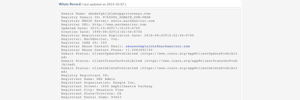 Google äger nu abcdefghijklmnopqrstuvwxyz.com