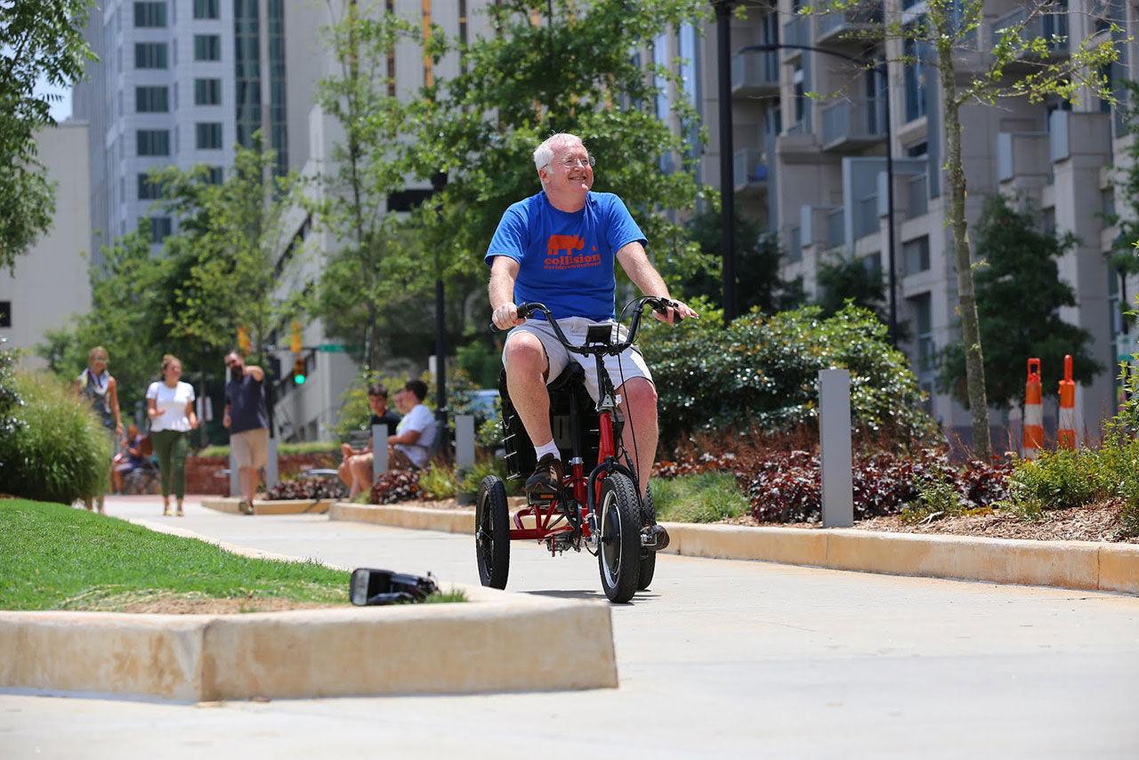 En eldriven trehjuling för de äldre