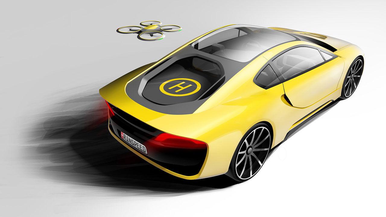 Ny konceptbil från Rinspeed har landningsplats för drönare