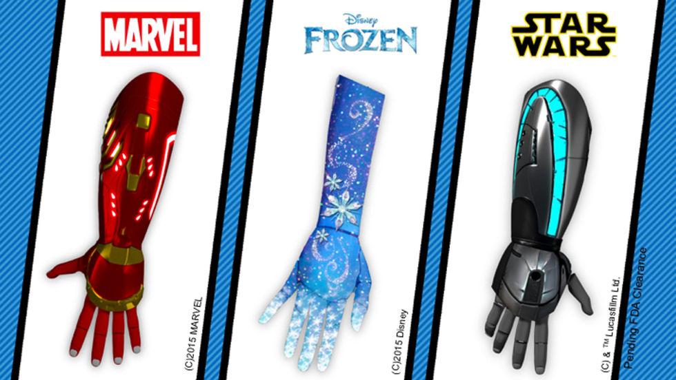 Disneyinspirerade armproteser för barn