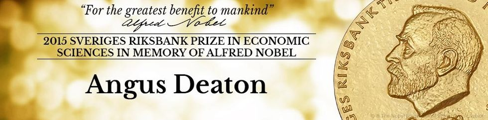 Angus Deaton får Ekonomipriset