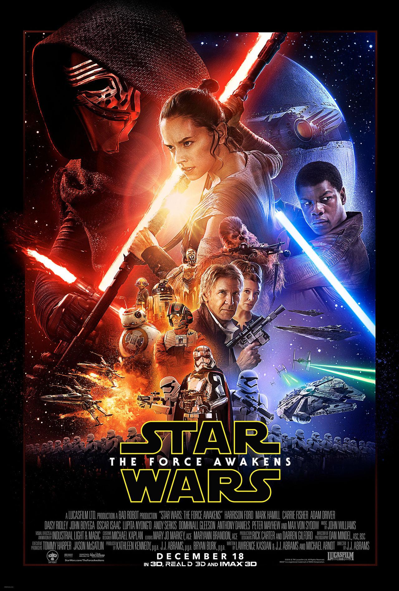 Den första officiella postern för Star Wars: The Force Awakens