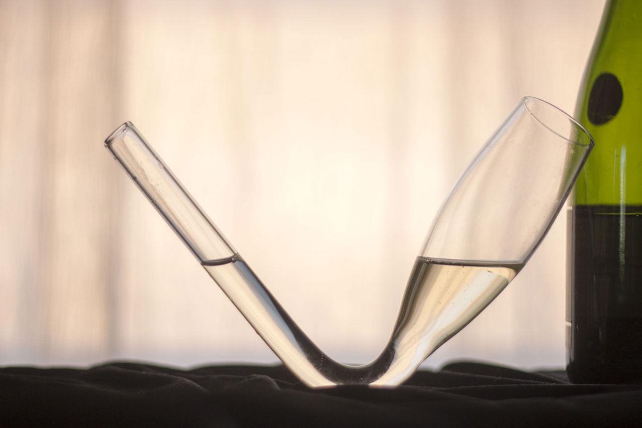 Chambong - konstigt glas för champagnen