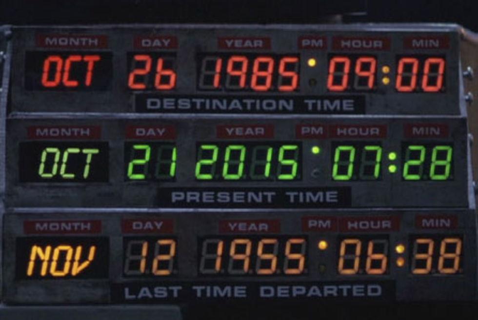 Idag landar Marty McFly i framtiden