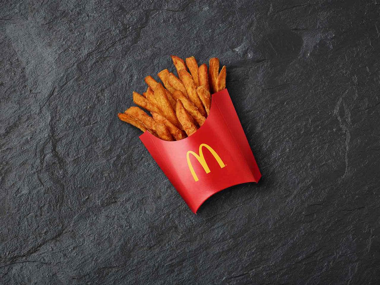 McDonald's provar att erbjuda sötpotatispommes