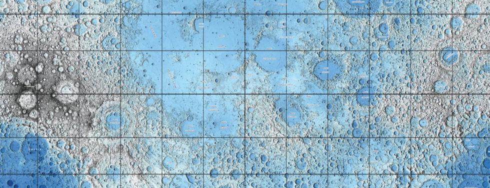 Nya kartor från månen