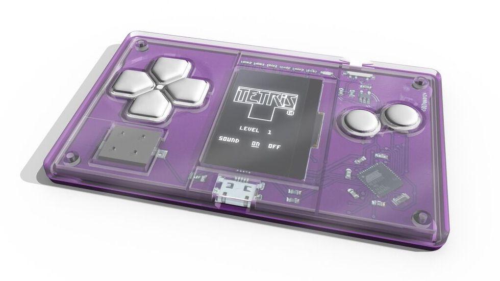 Ett visitkort med Tetris på