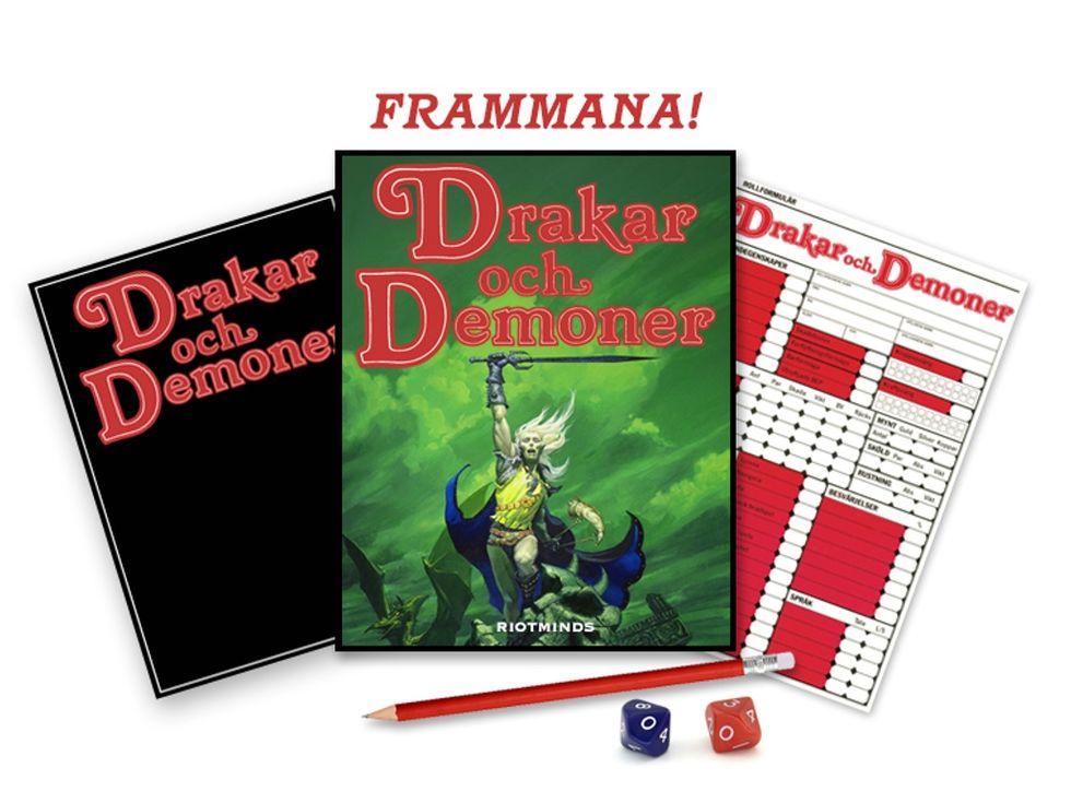 Nyutgåva av Drakar och Demoner färdigfinansierat på Kickstarter