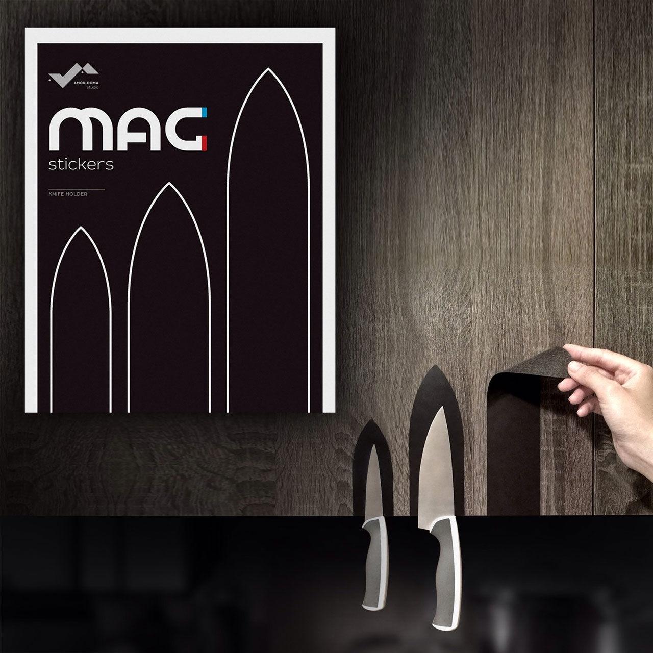 Häng upp knivarna med magnetklistermärken