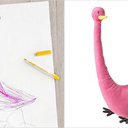 IKEAs mjukisdjur är designade av barn. Baseras på deras teckningar ... dfd89b2641dc7