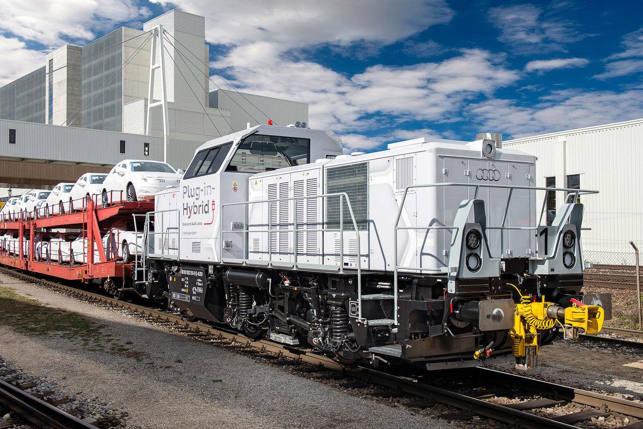 Audis nya hybridlok sparar 60 ton koldioxid