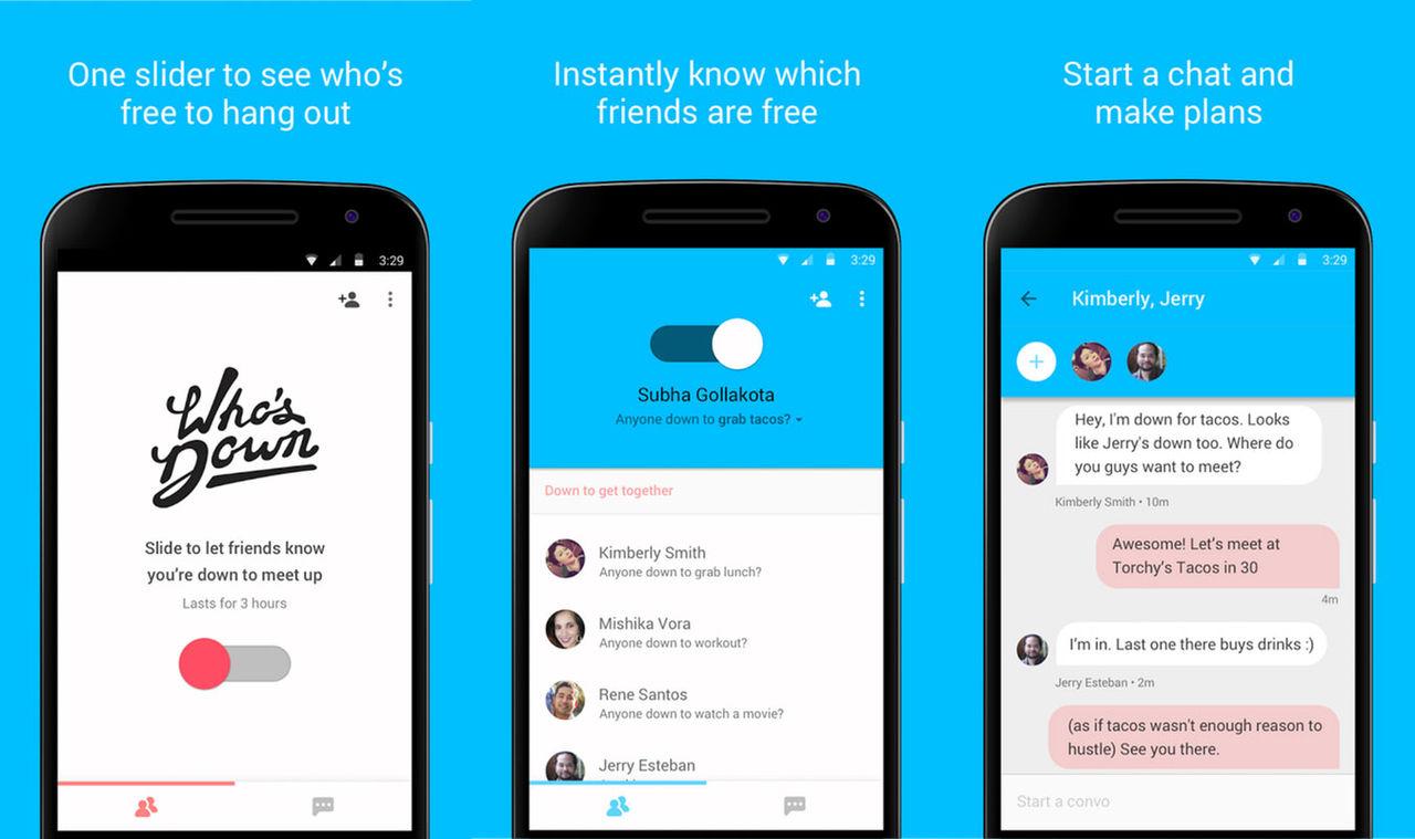 Google släpper appen Whos Down. Hitta kompisar att leka
