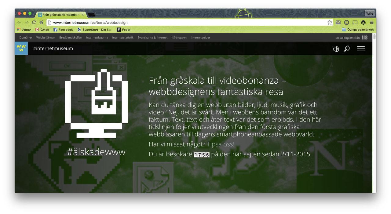Internetmuseum släpper Älskade WWW