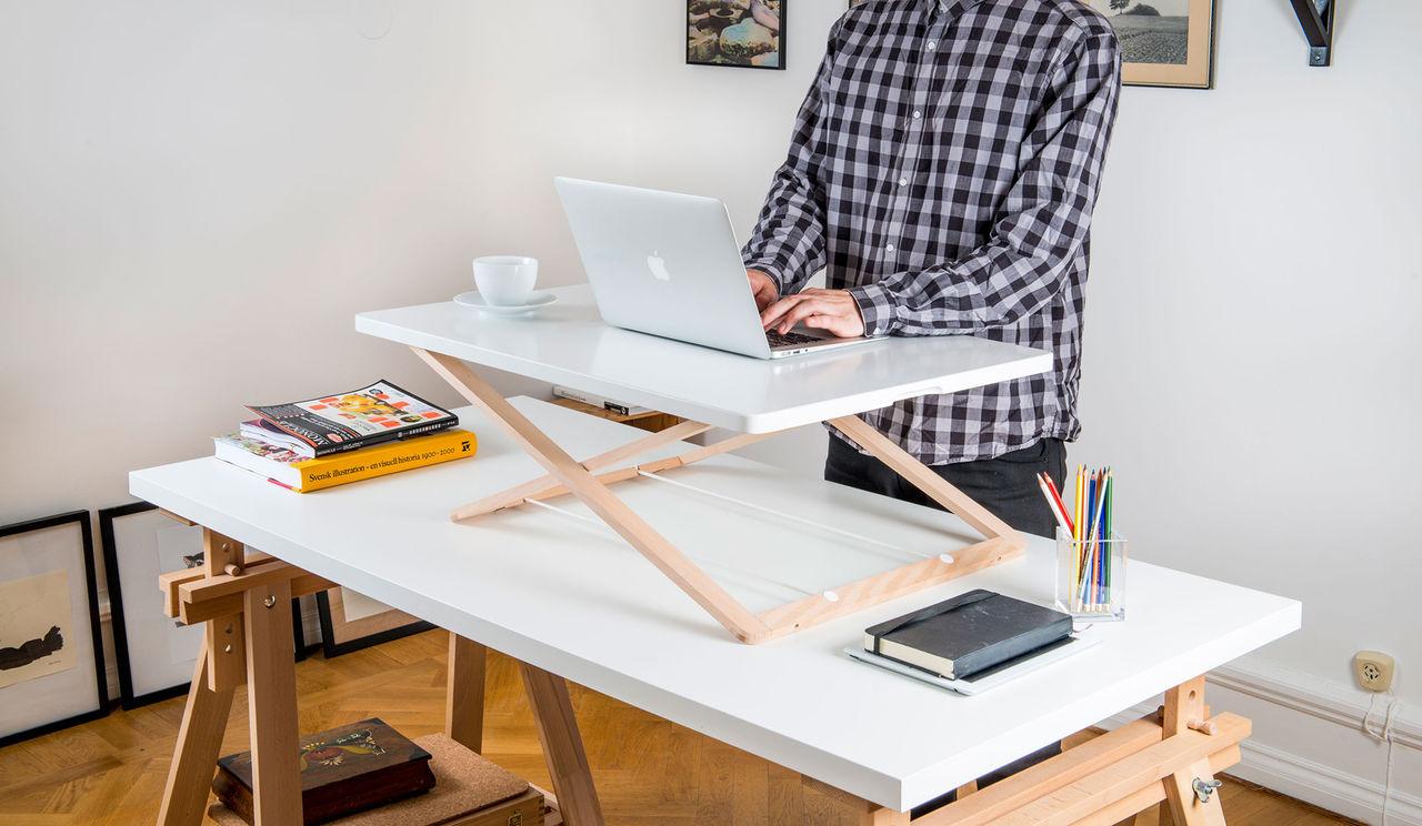 Alla ytor kan bli ett höj- och sänkbart skrivbord