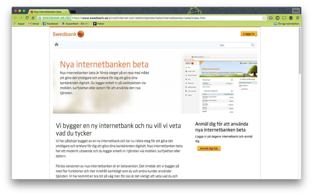 Swedbank bygger ny internetbank