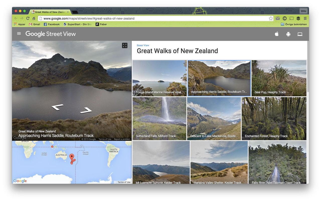 Vandra runt på Nya Zeeland med Google Street View