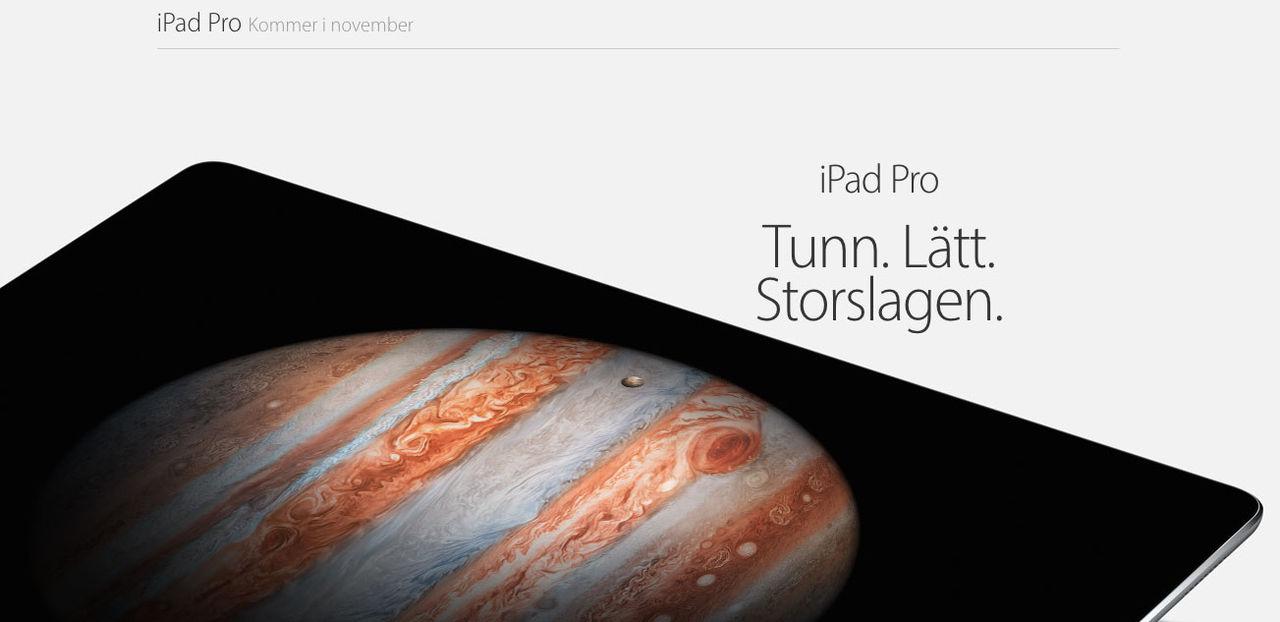 iPad Pro släpps på onsdag