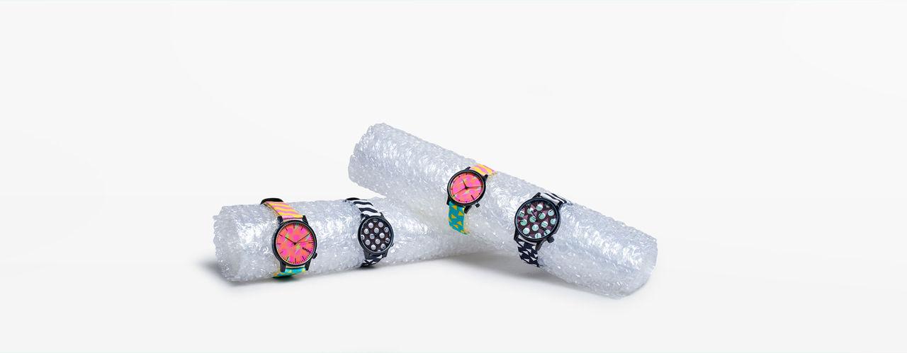 Färgglada klockor från Komono och Happy Socks