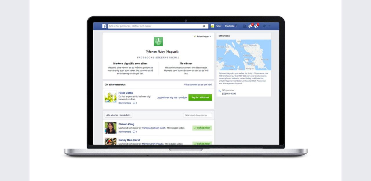 Facebook utökar sin tjänst för säkerhetskontroll efter Parisdåden