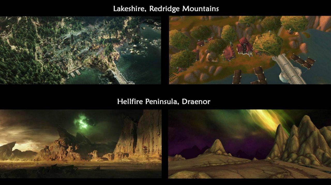 Fan har jämfört miljöerna i Warcraftfilmen med WoW
