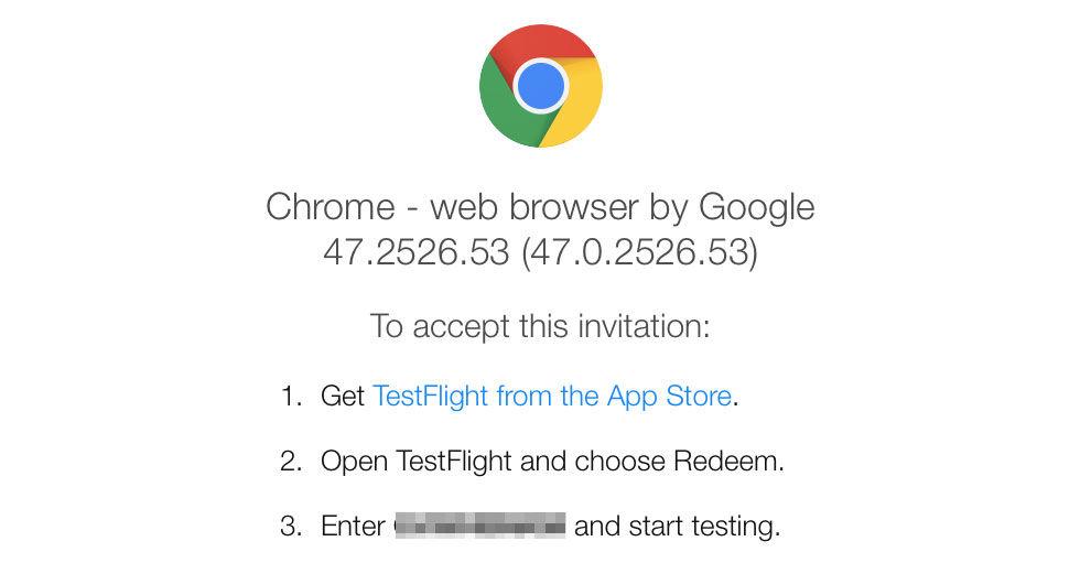 Google släpper betaversion av Chrome till iOS
