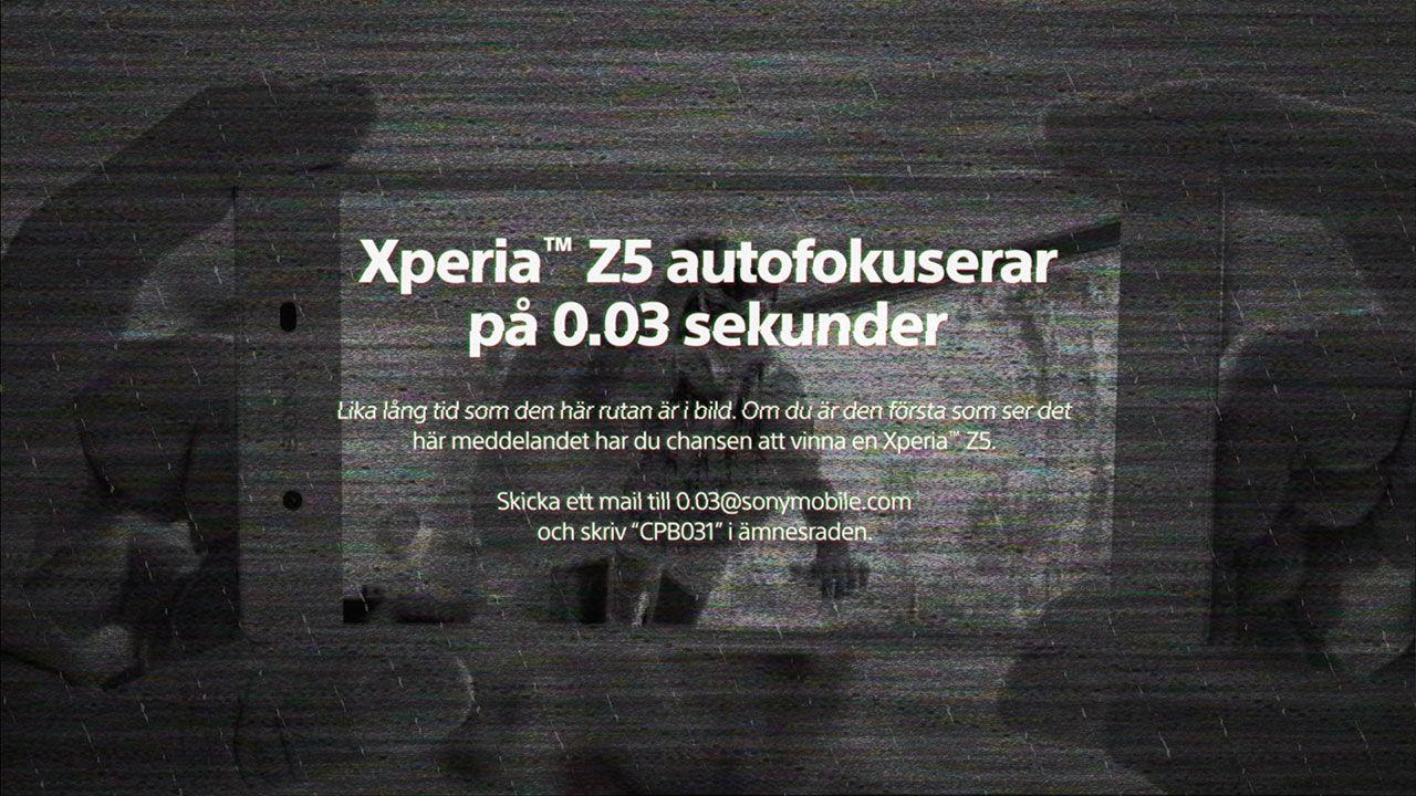 Sony gav Xperia Z5 till den som såg dolt budskap i reklam