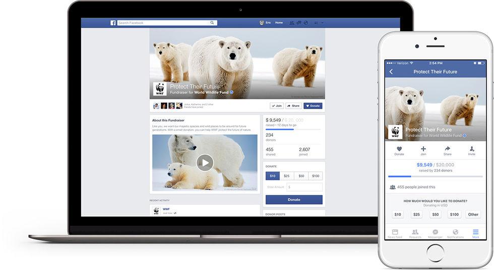 Facebook testar nya verktyg för välgörenhetsorganisationer
