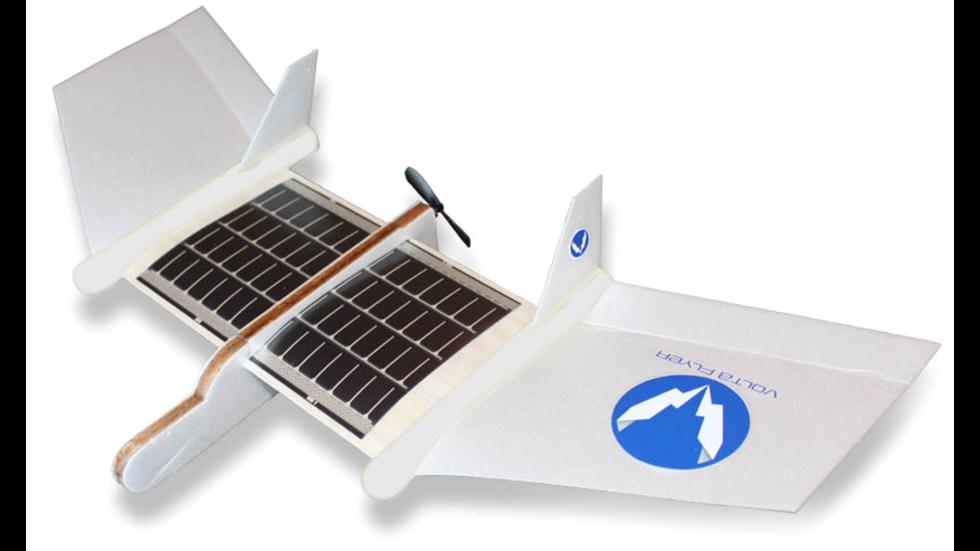 Volta Flyer är ett soldrivet leksaksplan för barn
