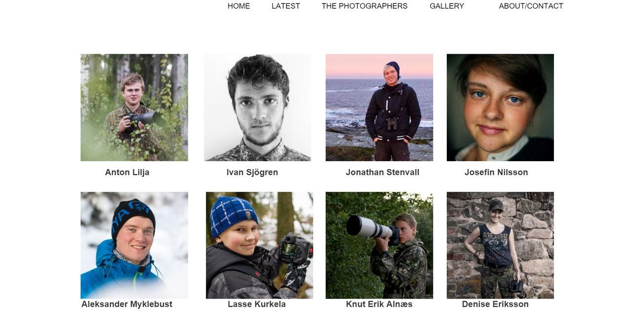 Ny sajt startad för unga nordiska naturfotografer
