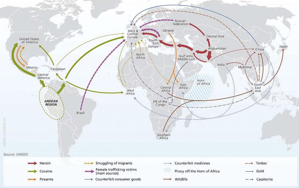 Så här fraktas illegala varor i världen