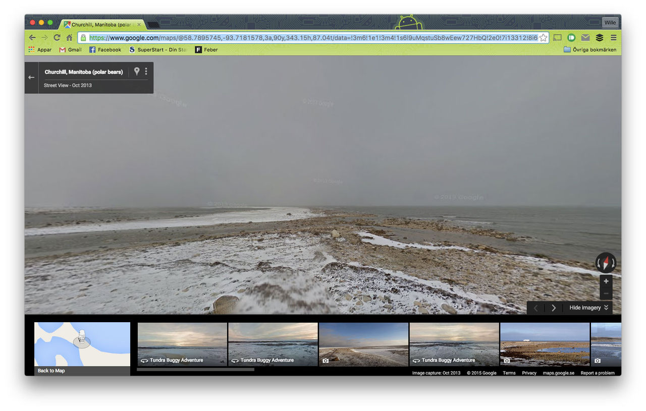 Kolla in klimatförändringar på Google Maps Street View