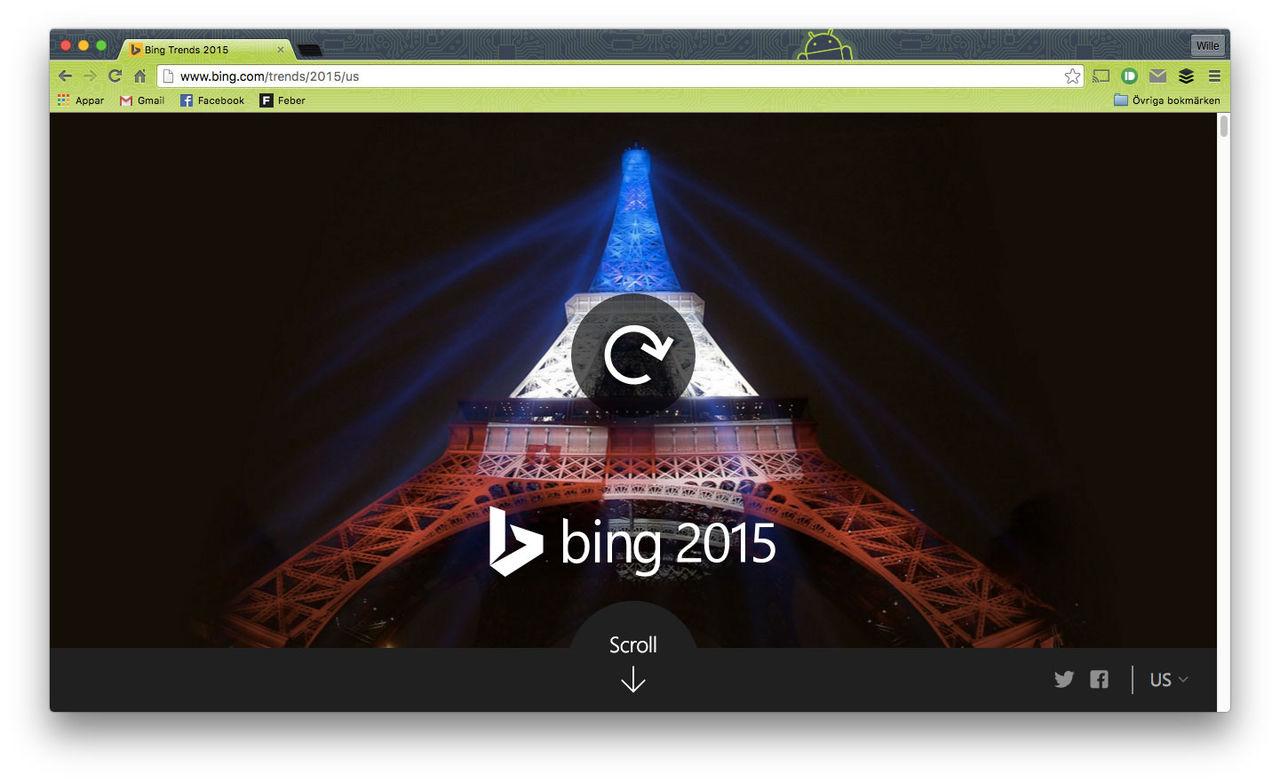 Det här sökte jänkarna mest efter på Bing