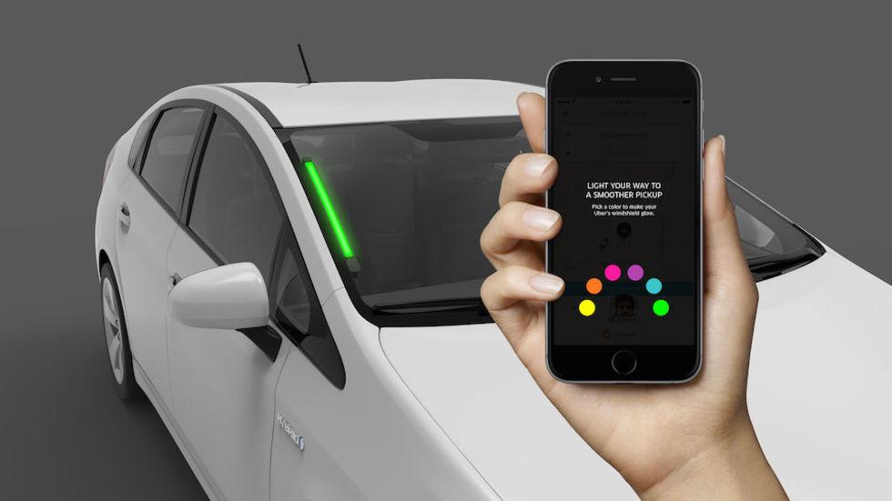 Uber SPOT visar vilken bil du ska hoppa in i