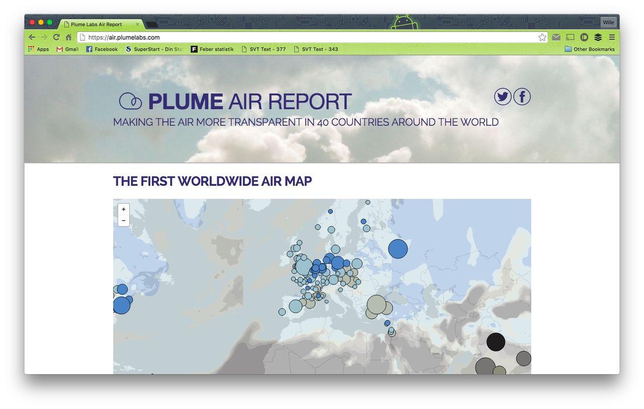 Kolla in luftkvaliteten i världens städer