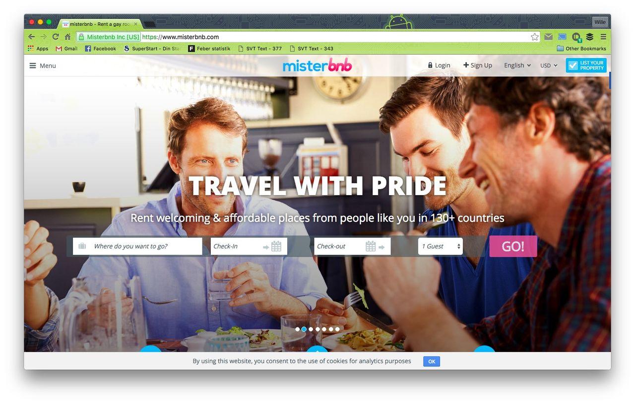 Misterbnb är Airbnb för homosexuella män