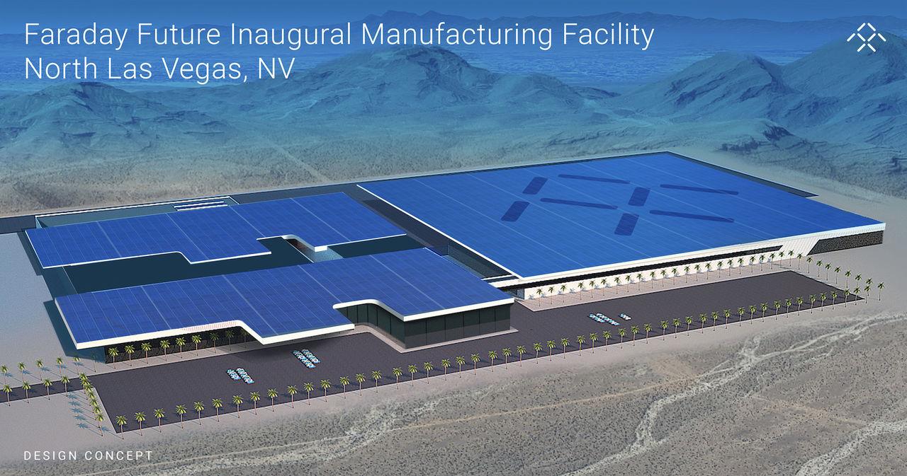 Faraday Future bygger fabrik för elbilar i Nevada