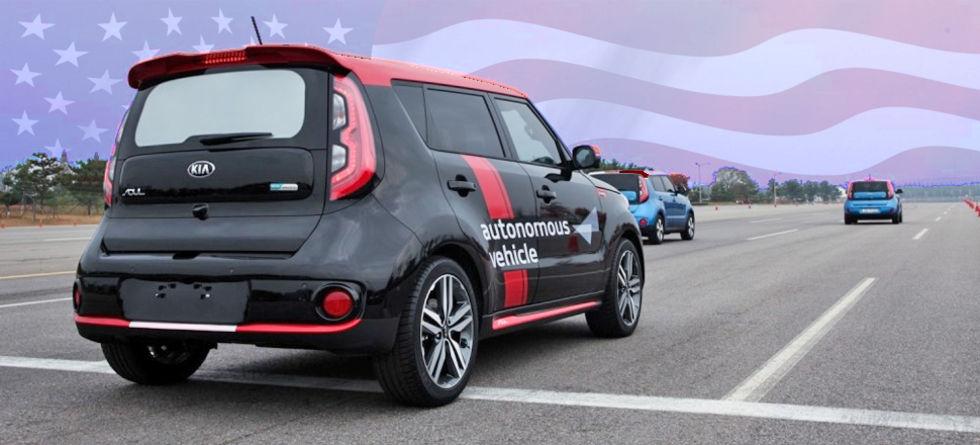 KIA Hyundai börjar testa självkörande bilar i USA