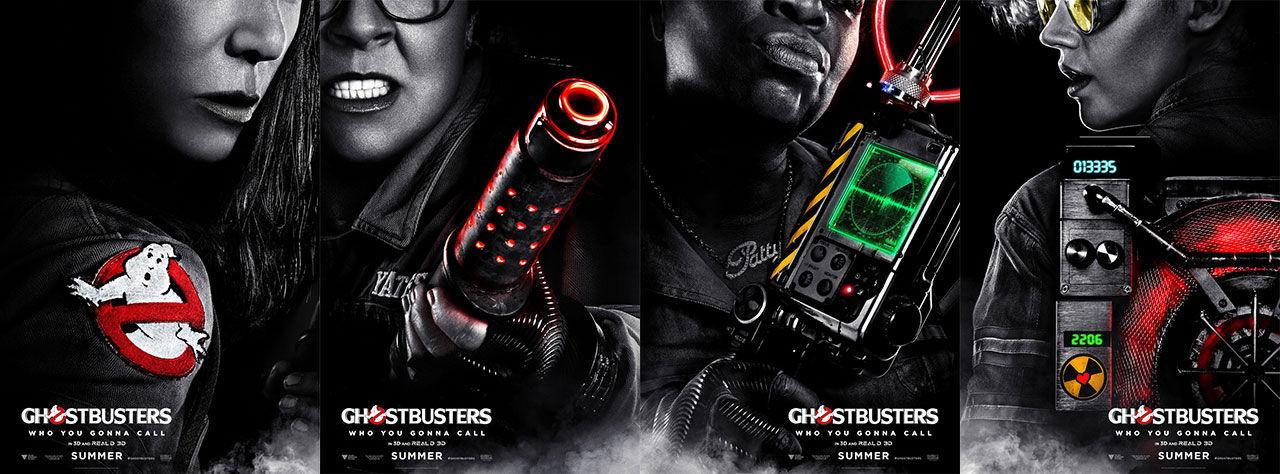 Affischerna till Ghostbusters visas upp