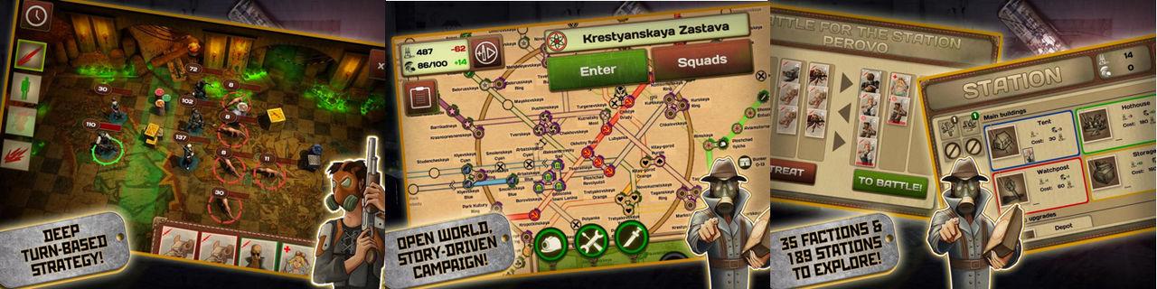 Metro 2033-spel för mobilen