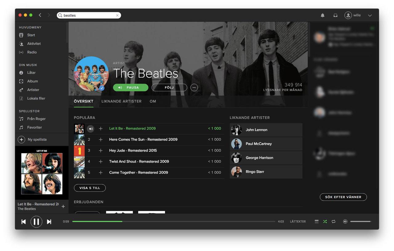 Nu finns Beatles på Spotify