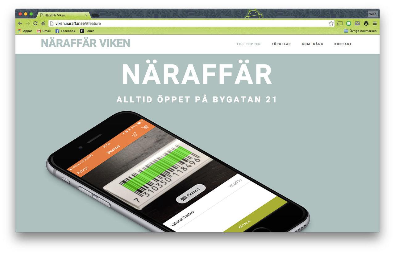 Obemannad närbutik öppnad i Skåne