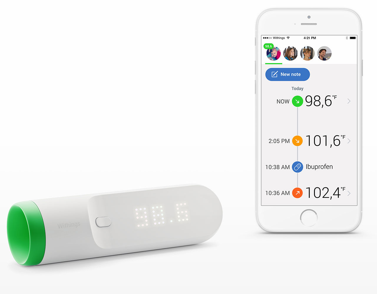 Withings Thermo är en smart febertermometer