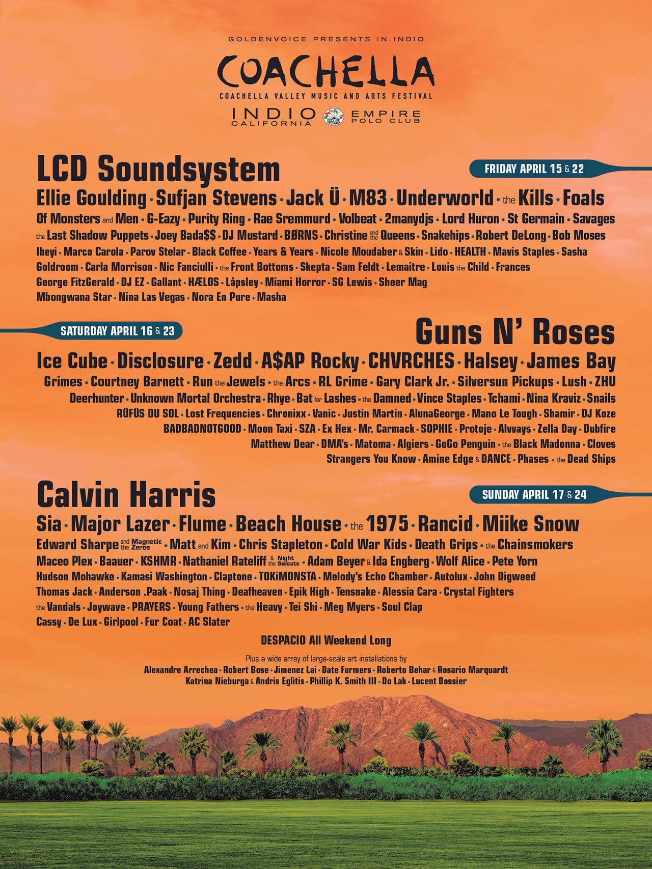 Coachella presenterar årets artister