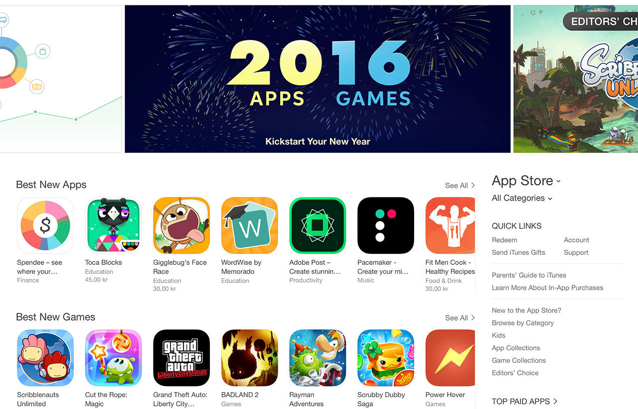 App Store slog rekord över helgerna