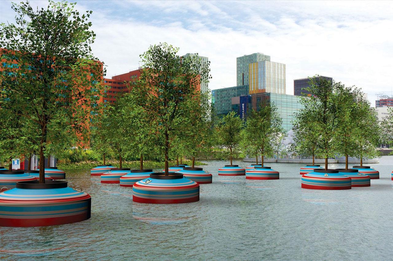 Flytande skog i Rotterdam