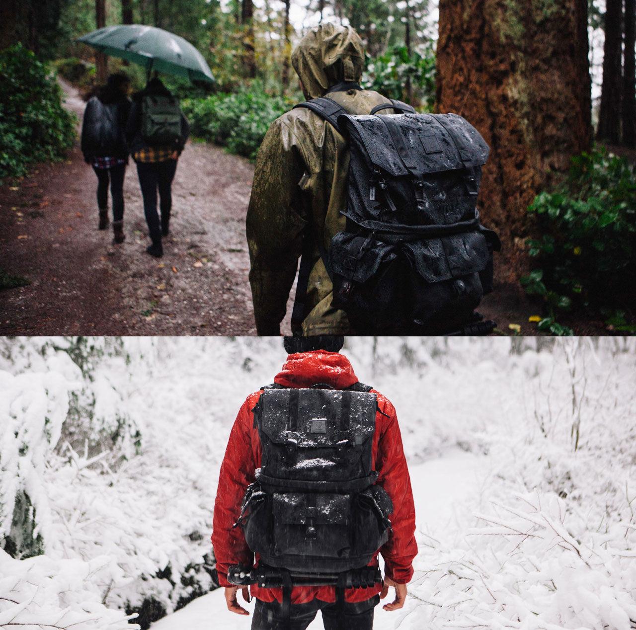 Stor och snygg ryggsäck för kameran