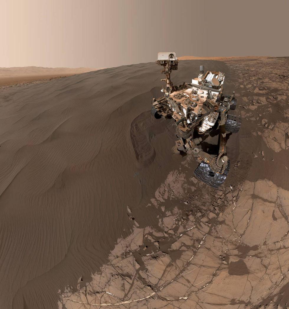 Curiosity tar en ny selfie