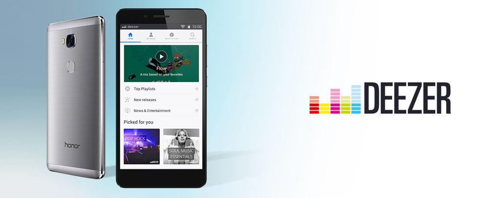 Huawei börjar samarbeta med Deezer