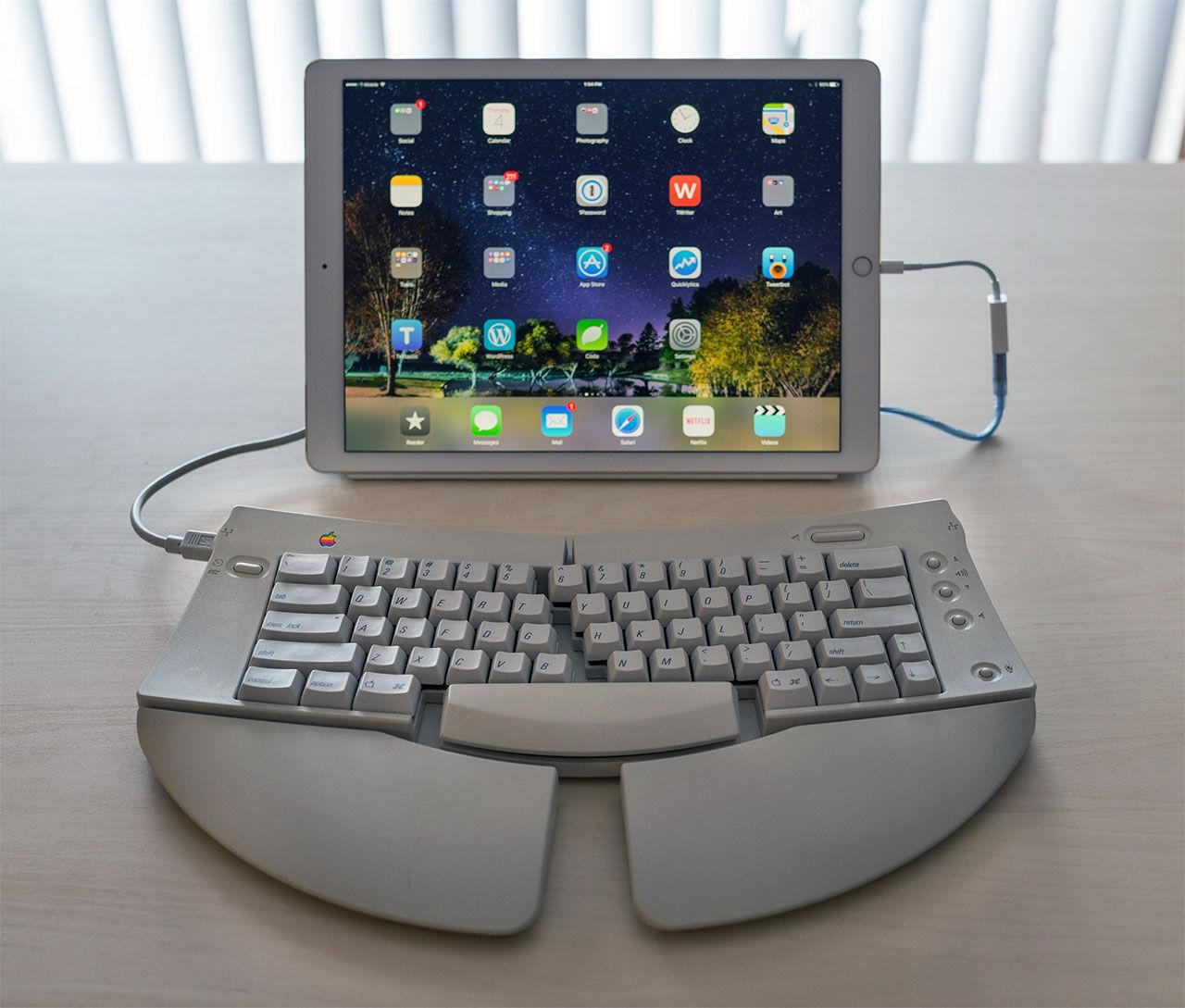 Koppla gammalt fint tangentbord till iPad