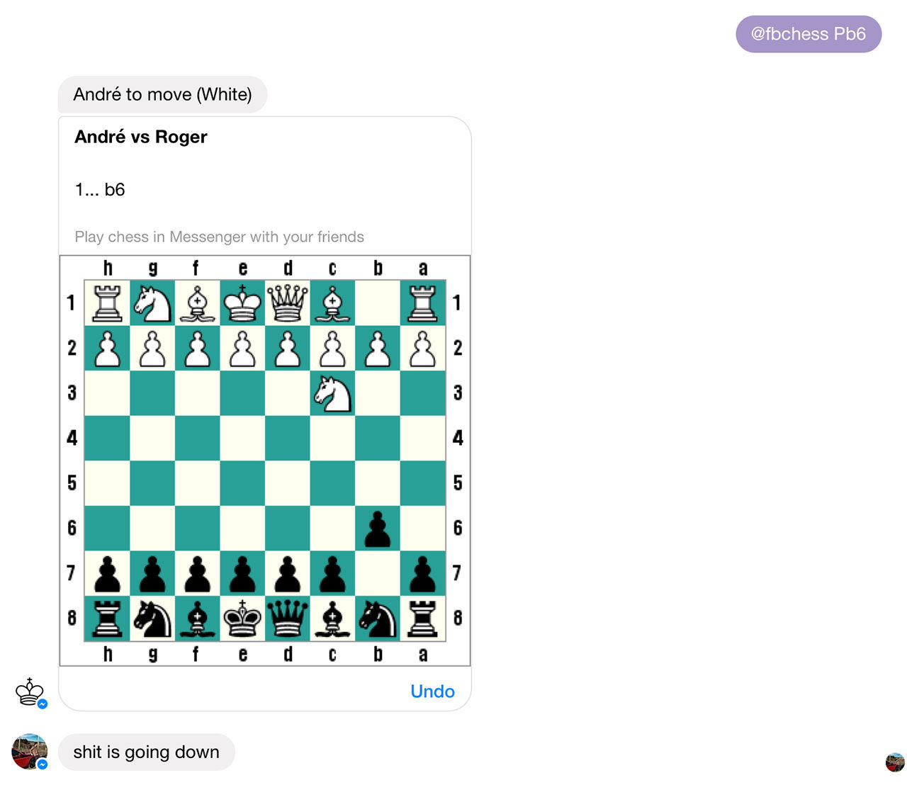 Spela schack i Messenger